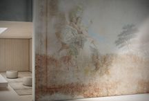 Affresco / The fresco, the most classical of painting techniques, becomes the inspiration for a design that adorns walls with visions and references from throughout the ages. From the classical to the exotic, with a refined, well-worn spirit.