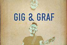 GIG AND GRAF / Affiches de concerts du groupe Freevolt. Création, illustration en traditionnel ou 3D. Déclinaisons teasers. Visitez mon site : fredox.com