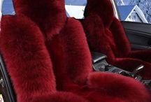 Fur car seat