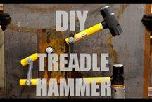Power forging hammer