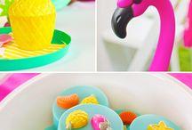 Flamingo Pinapple Party