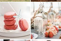 Coral and White Wedding