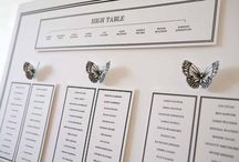 Butterfly themed wedding seating plans / The perfect summer seating plan theme. For more ideas see our blog http://www.toptableplanner.com/blog/springtime-butterflies-wedding-plan