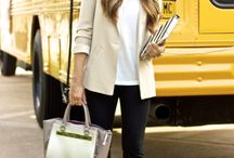 Outfits-beige blazer / by Mel Arsenault