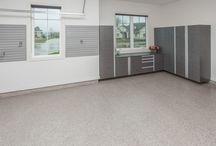 Garages / Custom garage designs and storage spaces.