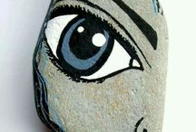 Rock painted face