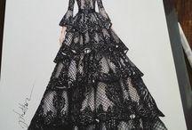 Fashion Drawing Dresses
