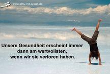 Sport / Aktiv sein bedeutet Gesunds sein. Gesundheit bedeute Glück. Lasst uns zusammen glücklick sein.