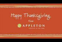 Holidays and Events / We're going apples for these holidays and events.