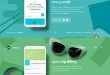 Mobile app - landing page
