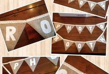 Lilly Dilly's bespoke personalised bunting / Handmade bunting for all occasions, can be plain or personalised. Available for companies names too!