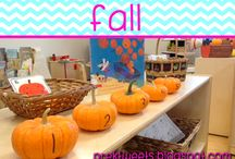 Fall / Fall center ideas, math games, and literacy ideas for pre-k and kindergarten.