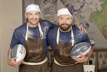 #ZizziTacklesCancer behind the scenes! / We've teamed up with Rugby stars Jonny May and Alex Corbisiero to raise £1million for Cancer Research UK's Stand Up To Cancer campaign. The duo have created two epic pizzas which you can tackle throughout September & October, with 50p from each sale going to Stand Up To Cancer. Here are some of our awesome behind the scenes shots from the day! #ZizziTacklesCancer