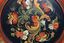 Rosemaling & bauernmalerei / Traditonal folk art painting.