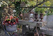 Garten Dekoration  rustikal