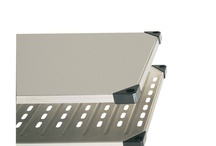 Super Erecta Solid Shelving / Solid and Louver Shelves available in galvanized or stainless steel.