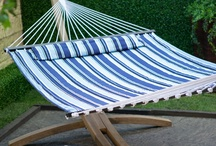 Hammocks . . .  / Hammocks are fun. Swing on a rope hammock or quilted or hand woven. Fabric hammocks are very comfortable. / by Back Yard Ideas