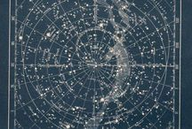The moon and stars, constellations.