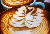 Latte Art / Latte Art from near and far.