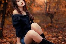 девушка и природа