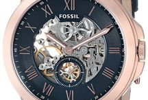 watches / fossil, watches, gems