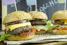 Рецепты гамбургеров / Рецепты вкусных домашних гамбургеров с пошаговыми фото     #гамбургеры #чизбургеры #рецепты #кулинария