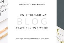 Blogging Right / Tips for how to improve your blog and also ways to build of your social media presence.