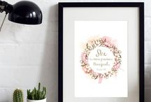 Our Etsy Prints / Featuring lovely hand-lettering & typography