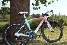 pink green bike