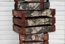 decoupage crates
