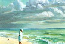 mare acquerelli