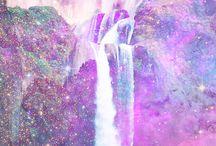 galaxia y agua