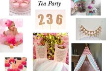 Turning 2 Tutu and Bow Tie Tea Party Ideas / Fun 2nd birthday party ideas, including birthday cakes, cupcakes, themed treats, printables, decorations, party favors, and party activities.