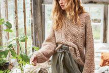 Voksen genser og jakker / Inspirasjon til strikka gensere og jakker i voksen str.