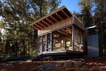 Refugio Modular / Refugio cúbico de estructura metálica ideal para zonas naturales.  http://www.EstudioDReam.es
