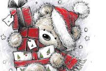 Julebilder til kort