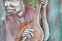 African Watercolor Paintings