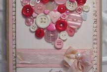 Ideas tarjetas con botones y cintas
