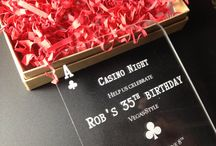 Poker Party or Vegas Wedding / Invitations for a poker party or Las Vegas themed weddings, showers, birthdays, anniversaries and other special events