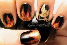 Hunger Games Make-up and Nail Art