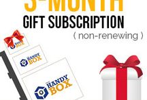The Handy Box Gift Ideas / The Handy Box offers a variety of gift ideas when shopping for the perfect gift.  Gift a The Handy Box Gift Card or a 3 or 6 month The Handy Box Subscription.