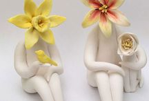 Flower people - Parian clay