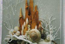 Wood and Seashell art