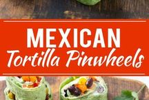 Pin wheels tortillas