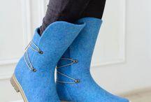 chaussures laine feutrée