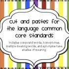 TPT Language Arts Elementary / Please pin no more than three paid products a day!  In your description, please include the grade level.  Thank you! / by Amanda Butt's Special Needs Classroom