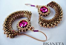 Beaded earrings, rings