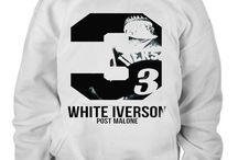 Post Malone White Iverson t shirt hoddies
