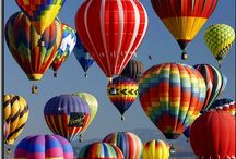 Hot Air Balloon Festival and Kite Festivals / My heart soars when I see a Hot Air Balloon in flight or a kite flying  in the breeze! / by Joann Kramcsak