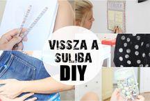 Vissza a suliba DIY / DIY kreatív ötletek a sulira✂️✒️